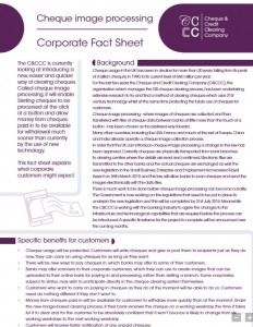Cheque Processing Fact sheet